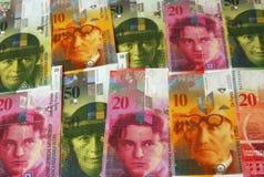 Francos suizos Foto de archivo