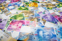 Francos suizos Imágenes de archivo libres de regalías