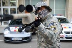 Francotirador del militar Imagenes de archivo