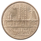 10 francs coin royalty free stock image