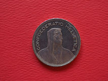 5 francs coin, Switzerland Royalty Free Stock Photos
