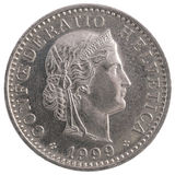 20 francs de pièce de monnaie Photos stock