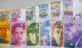 Francs suisses Photos stock