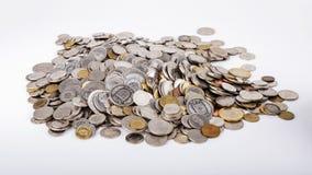 Francs suisses haut étroit de pièces de monnaie Photos stock
