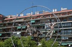 Francuscy akrobaci, Madryt, Hiszpania obrazy royalty free