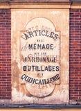 Francuscy rocznika znaka znaczenia ogródu, domu produkty i, Zdjęcia Stock