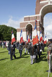 Francuscy weterani maszeruje przy 96th rocznicą bitwa o Zdjęcie Royalty Free