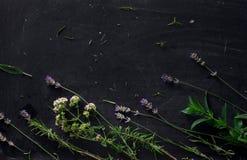 Francuscy ziele na czarnym biurku zdjęcie royalty free
