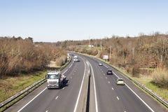 Francuska autostrada Zdjęcie Royalty Free