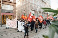 Francuska demonstracja przeciw rzędu stanowi zagrożenia Zdjęcia Stock