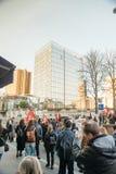 Francuska demonstracja przeciw rzędu stanowi zagrożenia Obrazy Royalty Free