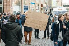 Francuska demonstracja przeciw rzędu stanowi zagrożenia Obraz Royalty Free