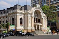 Francuska kolonialna opera w Saigon Fotografia Stock