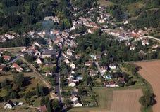 Francuska kraj wioska Fotografia Royalty Free