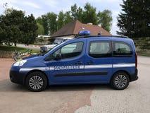 Francuska Krajowa żandarmeria lub samochód policyjny, Peugeot partner obraz stock