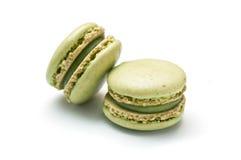 Francuska macaron aromata pistacja Zdjęcia Stock