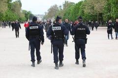 Francuska milicyjna kontrola ulica Zdjęcia Stock
