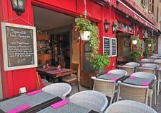 Francuska restauracja, Annecy Obraz Stock