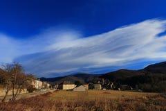 Francuska wioska w Pyrenean górach Fotografia Royalty Free