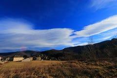 Francuska wioska w Pyrenean górach Obrazy Royalty Free