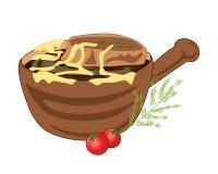 francuska zupa cebulowe royalty ilustracja