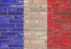 Francuski ściana z cegieł fotografia royalty free