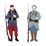 Francuski żołnierz z mundurem 1914, 1918 i, Listopad 11th, isolat Ilustracji