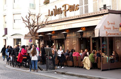 Francuski brasserie taras - Paryż Zdjęcie Stock