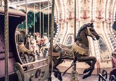 Francuski carousel w wakacyjnym parku Zdjęcie Stock
