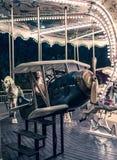 Francuski carousel w wakacyjnym parku Zdjęcia Royalty Free