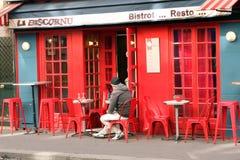 Francuski czerwień baru taras - Paryż Obraz Stock