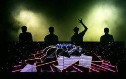 Francuski DJ załoga C2C Obrazy Royalty Free