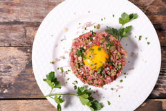 Francuski gastronomy, stku tartare obrazy stock