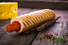 Francuski hot dog grill Zdjęcie Stock