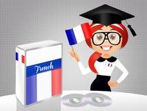 Francuski językowy kurs royalty ilustracja