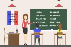 Francuski językowy kurs ilustracja wektor