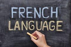 francuski język Zdjęcia Royalty Free