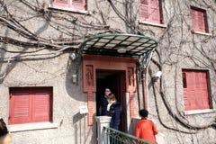 Francuski koncesja teren, siedziba Zhou Enlai w Szanghaj obrazy royalty free