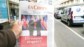 Francuski losu angeles Croix gazety atutu Kim szczyt zdjęcie wideo