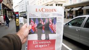 Francuski losu angeles Croix gazety atutu Kim szczytu zwolnione tempo zdjęcie wideo