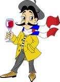 francuski mężczyzna royalty ilustracja