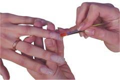 francuski manicure Zdjęcie Royalty Free