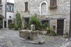 Francuski miasto Saint Paul De Vence obrazy royalty free