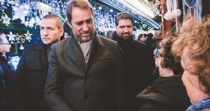 Francuski minister wnętrze Christophe Castaner obrazy royalty free