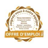Francuski oferta pracy znaczek royalty ilustracja