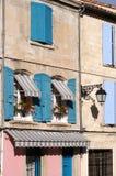 Francuski okno w Południowym Francja zdjęcie stock
