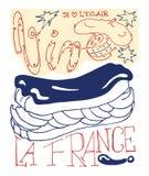 Francuski plakat Zdjęcia Royalty Free