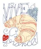 Francuski plakat Obraz Royalty Free