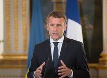 Francuski prezydent Emmanuel Macron obraz stock