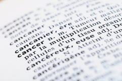 Francuski słownik przy słowo nowotworem fotografia stock